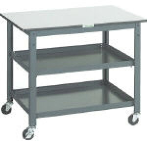 トラスコ中山 【個人宅不可】 WHT型作業台補助テーブルワゴン 900X600XH740 WHT-6090 [A171001]