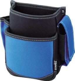 トラスコ中山 腰袋 2段 携帯電話ホルダー付き ブルー TWP2-BL [A180909]