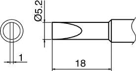 白光 ハッコー こて先 S3型 T18-S3 [A011621]