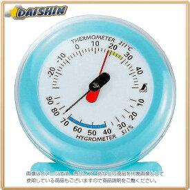 シンワ測定 温湿度計 Q-3 丸型 6.5cm ライトブルー No.70498 [A030701]