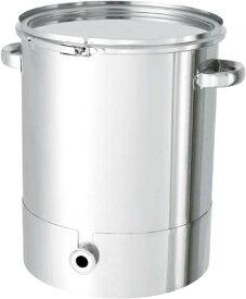 日東金属工業 ステンレスタンク片テーパー型バンド式密閉式容器35L KTT-CTL-36 [A180407]