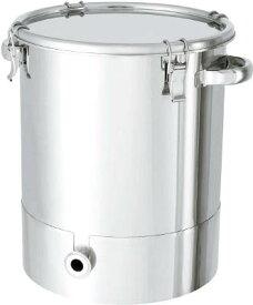 日東金属工業 ステンレスタンク片テーパー型クリップ式密閉容器80L KTT-CTH-47 [A180407]