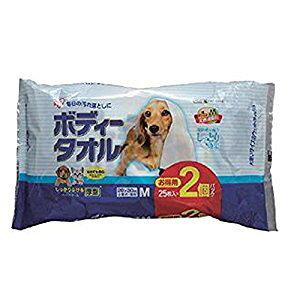 アイリスオーヤマ IRIS ボディタオル小型犬猫用25枚2P (25枚X2) BWT-25MX2 [C010806]