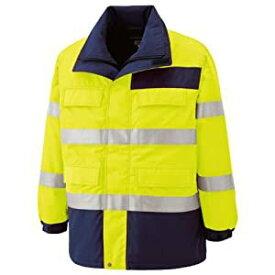 ミドリ安全 高視認性 防水帯電防止防寒コート イエロー M SE1124-UE-M [A061802]