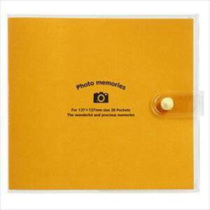 ナカバヤシ カバーポケットアルバム/127201/オレンジ アカ-PV127-201-1 [F030103]