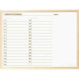 【20日限定☆楽天カード利用でP14倍】ナカバヤシ ウッドスケジュールボード 620×470 SBM-E6247 [F010303]