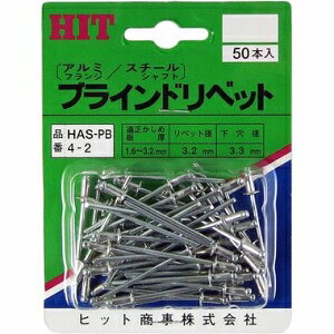 ヒット商事 HIT ブラインドリベット パック入 HAS-PB4-2 [A011917]