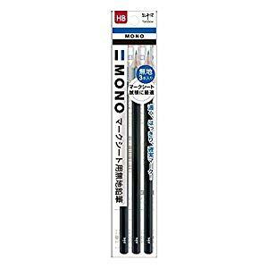 トンボ鉛筆 MONOマークシート用鉛筆HB無地3P [35440] ACA-312 [F080602]