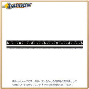 レイメイ藤井 RF 白・黒 直定規 30センチ 黒 [344529] APJ281B [F020310]