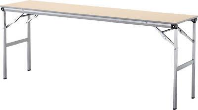 アイリスチトセ 折畳みテーブルLOT 棚無し1545サイズ ナチュラル LOT-1545-NA [F010401]