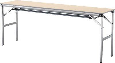 アイリスチトセ 折畳みテーブルLOT 棚付き1545Tサイズ ナチュラル LOT-1545T-NA [F010401]