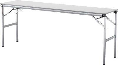 アイリスチトセ 折畳みテーブルLOT 棚無し1560サイズ ライトグレー LOT-1560-LGY [F010401]