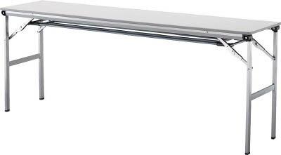 アイリスチトセ 折畳みテーブルLOT 棚付き1560Tサイズ ライトグレー LOT-1560T-LGY [F010401]