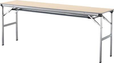 アイリスチトセ 折畳みテーブルLOT 棚付き1560Tサイズ ナチュラル LOT-1560T-NA [F010401]