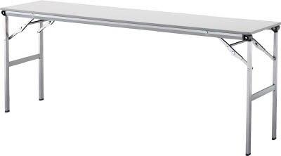アイリスチトセ 折畳みテーブルLOT 棚無し1860サイズ ライトグレー LOT-1860-LGY [F010401]