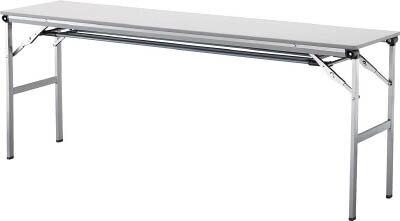 アイリスチトセ 折畳みテーブルLOT 棚付き1860Tサイズ ライトグレー LOT-1860T-LGY [F010401]