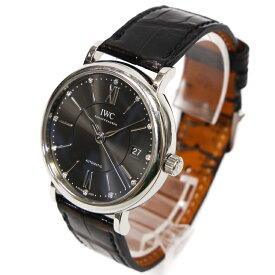 【中古】IWC アイダブルシー メンズ腕時計  ポートフィノ ミッドサイズ オートマティック IW458102 自動巻 レザー 牛革 シルバー文字盤 時計 ブランドウォッチ sw20-046425J-E
