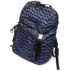 【中古】プラダ メンズバッグ デイパック ピストルパターン リュックサック バックパック・リュック V135M ナイロン 青 ブルー 黒 ブラック バッグ ブランドバッグ 鞄 20-3987-38