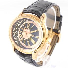 【中古】時計 腕時計 メンズ腕時計 オーデマピゲ AUDEMARS PIGUET ミレネリー1533OR.OO.D002CR.01 自動巻 K18 18金ゴールド ブラック革ベルト 黒文字盤 メンズウォッチ