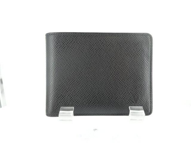ルイ・ヴィトン 二つ折り財布 札入れポルト・ビエ・6カルト・クレディー M30482MI1014 2014年製 タイガ 黒 ブラック【財布】【送料無料】【中古】
