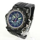 【中古】腕時計 メンズ腕時計 時計 アクアノウティック AQUANAUTIC キングクーダTTS クロノダイブ自動巻 SS ステンレススチール ブラックラバーベルト 黒文字盤 メンズウォッチ ブランドウォッチ
