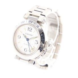 【中古】時計 腕時計 カルティエ パシャC メリディアン GMT 2377 CC530364 自動巻 メンズウォッチ シルバー文字盤 ステンレススティール SS【送料無料】