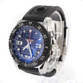 【メンズ】【時計】【中古】【送料無料】ブライトリング エアウルフ レイヴン A78364 ステンレススチール ラバーベルト ブラック文字盤 男性用 クォーツ 腕時計