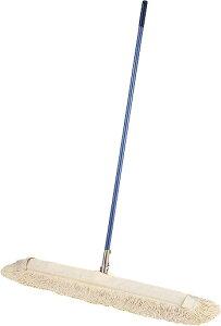 耐久性のあるスチール柄で、体育館など広いフロアの水拭きに便利。カラ拭き作業もできます。コンドルフロアモップ E-90