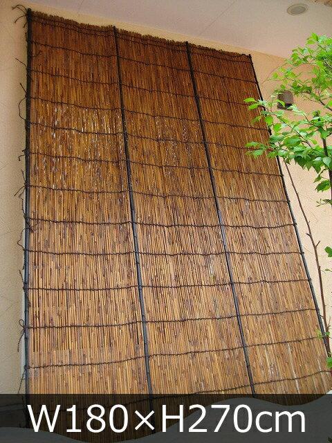 【棕櫚縄】炭火よしず(たてず・たてすだれ)高さ270×巾180cm(炭火9×6尺)