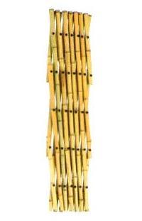 アコーディオン式ワンタッチ竹フェンス竹垣2