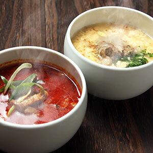 【秋のうまかもん特集】【送料込】 博多 ユッケジャン・テールスープ 各2個セット / 和牛 野菜がたっぷり ユッケジャン と 国産 テールスープ とろとろ コク旨スープ 湯煎 簡単 冷凍 ギフ