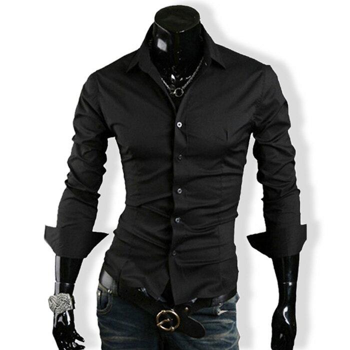 カジュアルシャツ ワイシャツ メンズ 長袖 無地 ロールアップ トップス ビジネス コーデ BUZZ WEAR[バズ ウェア]