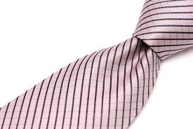 スポルディング SPALDING チェック柄 ストライプ柄 ピンク シルク ブランド ネクタイ 送料無料 【中古】【良品】