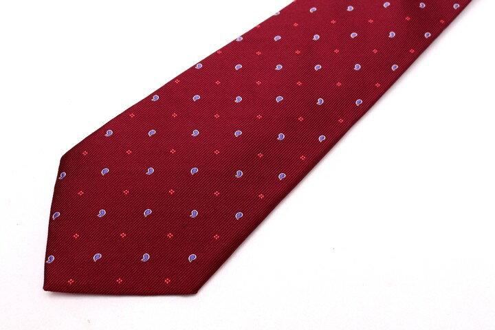 レノマ renoma ドット柄 レッド 赤 シルク ブランド ネクタイ 送料無料 【中古】【美品】