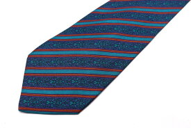 ピエールカルダン pierre cardin ストライプ柄 ブルー 青 シルク スペイン製 ブランド ネクタイ 送料無料 【中古】【良品】