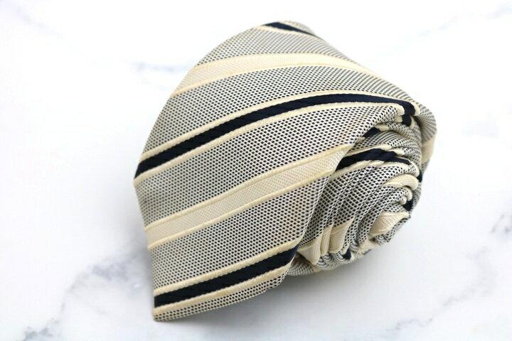 トゥモローランド TOMORROWLAND ストライプ柄 ブラック 黒 シルク 日本製 ブランド ネクタイ 送料無料 【中古】