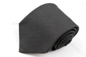 ダナキャラン DONNA KARAN DKNY ロゴ柄 伊製 シルク ドット柄 ブラック シルク ブランド ネクタイ 送料無料 【中古】【良品】