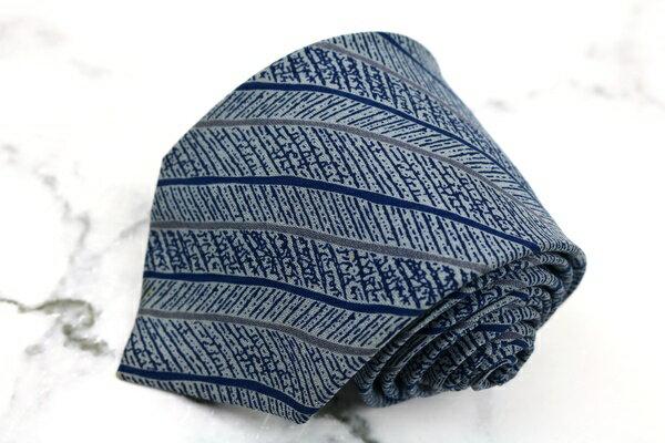 ニナリッチ NINA RICCI シルク ストライプ柄 ブルー シルク ブランド ネクタイ 送料無料 【中古】【良品】