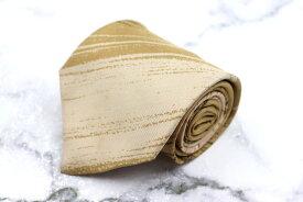 モンタナ Mantana 伊製 シルク ストライプ柄 ベージュ シルク ブランド ネクタイ 送料無料 【中古】【美品】
