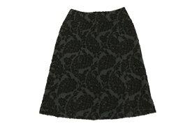 [美品/即決] スキャパ SCAPA M/38サイズ 総柄 スカート 台形 ウール ひざ丈 日本製 ブラウン ブランド古着 【中古】