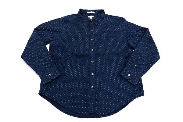 [美品] エルエルビーン L.L.Bean Mサイズ カジュアルシャツ ボタンシャツ 長袖 キュートなドット 登山 ハイキング アウトドア メンズ 服 ネイビー ブランド古着 【中古】