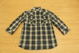 [良品] クランプリュス KLEIN PLUS 48サイズ シャツ 七分袖 ロールアップ スナップボタン きれいめ カジュアル メンズ 服 カーキ ブランド古着 【中古】