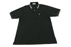 [美品] マンシングウェア Munsingwear LAサイズ ポロシャツ 半袖 ゴルフ スポーツ 胸ポケット 普段着 日本製 メンズ 服 ブラック ブランド古着 【中古】