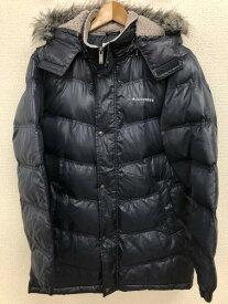 [良品] コンバース CONVERSE Mサイズ ワンポイント 中綿ジャケット メンズ ジップアップ フード ファー ネイビー ブランド古着 【中古】