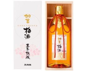 【小堀酒造店】萬歳楽 加賀梅酒 5年熟成 720ml ギフト 北陸 石川 地酒