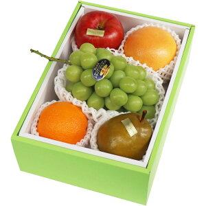 【送料無料】 10月限定 旬のフルーツ 詰合せ 化粧箱 高級 果物 フルーツギフト 自家用 プレゼント シャインマスカット・洋梨 他 [お供え] [お見舞い] [御礼] [お祝い] [内祝い] [贈り物]