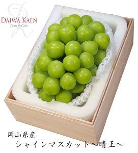 【送料無料】 岡山産 晴王 シャインマスカット 約700g 高級 果物 フルーツ ギフト プレゼント 大粒 木箱 [お供え] [お祝い] [お見舞い] [内祝い] [御礼] [贈り物]