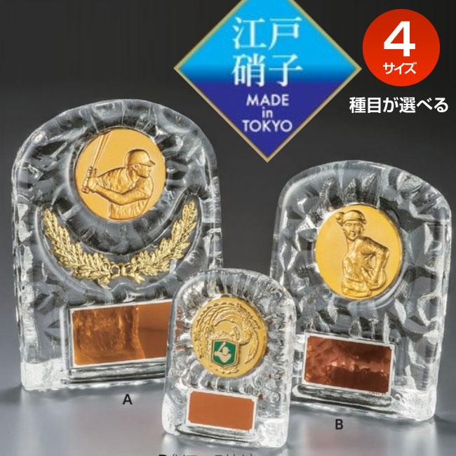 表彰盾:クリスタルメダル付楯(130x100mm)VSX5501-C【文字彫刻無料】[M/#6]