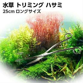 水草用ハサミ トリミング に ステンレス 弯曲型 カーブ 25cm