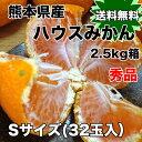 【送料無料】熊本県産ハウスみかん 秀 Sサイズ 約2.5kg ※北海道・沖縄県へは別途送料必要【RCP】